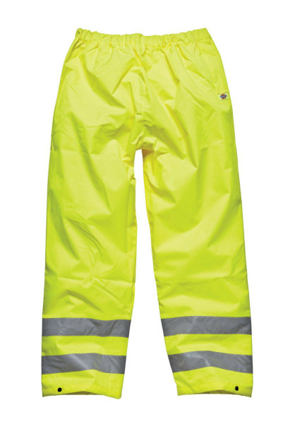 Dickies Hi-Vis Überziehhose SA12005 yellow wasserdichte Überhose Warnschutzhose 2XL