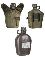 MIL-TEC Feldflasche 1ltr. Trinkflasche mit Hülle...