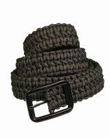 MIL-TEC Paracord Belt schwarz Outdoor Gürtel...