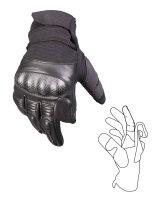 MIL-TEC Tactical Gloves schwarz Lederhandschuhe Paintball...