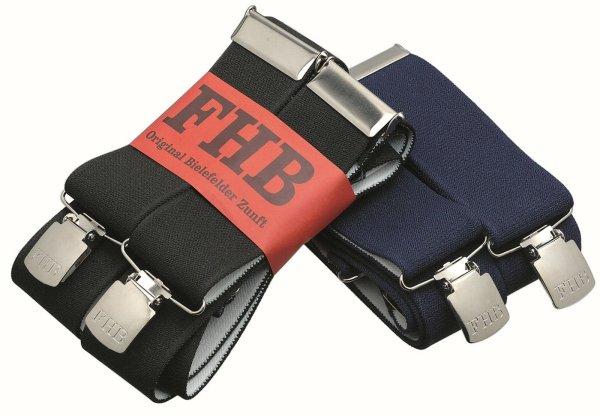 FHB Hosenträger unifarben  90290 ACHIM  Herkulesträger extra breit mit Stahlclip schwarz