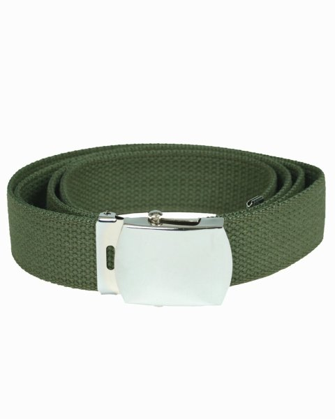 MIL-TEC Hosengürtel Cotton oliv Army Military Gürtel Koppel Canvas Belt