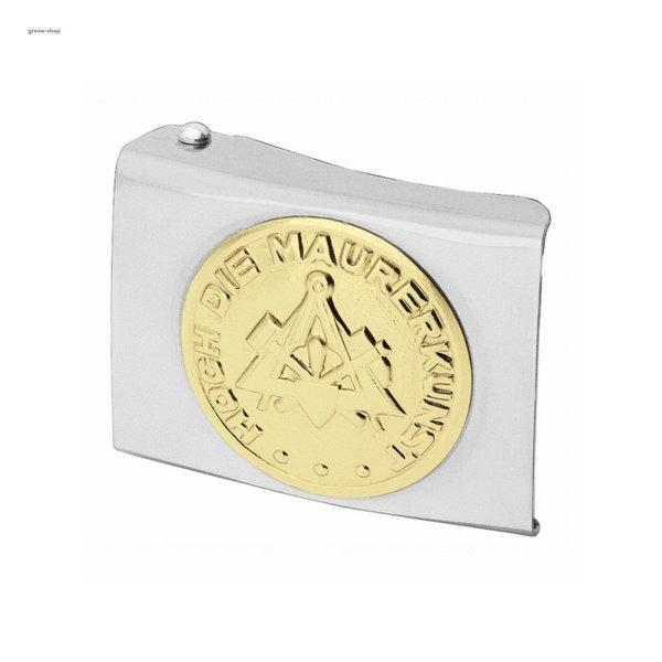 FHB Koppelschloss Maurer  87001 GREGOR  Koppel Zunftschloss silber Metallschloss
