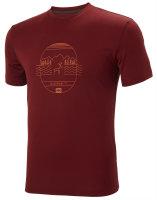 HH Helly Hansen Skog Graphic T-Shirt  62856 oxblood...