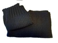 LODENHUT Damen Strickschal 52102 schwarz Schal Damenschal...