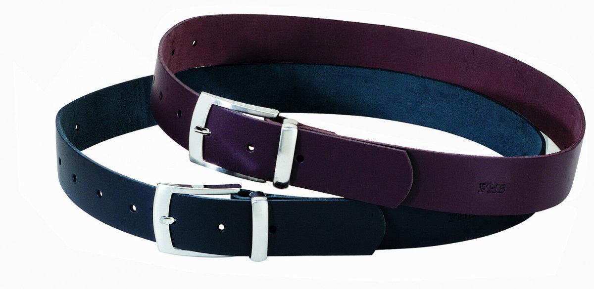 FHB Ledergürtel 85002 BURKHARD Fb. schwarz Gürtel 40mm Hosengürtel leather belt 115cm