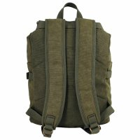 MFH Pure Trash PT Rucksack oliv Canvas Retro Outdoor...