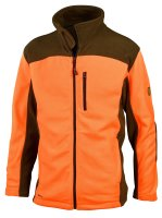 HUBERTUS Fleecejacke zweifarbig orange/oliv Herren Fleece...