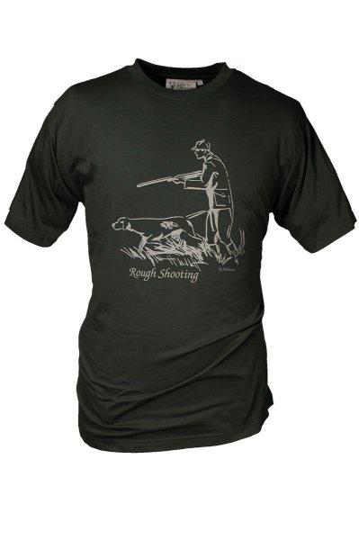 "HUBERTUS Hunting Herren T-Shirt ""Rough Shooting"" oliv Printshirt Jagd Shirt"