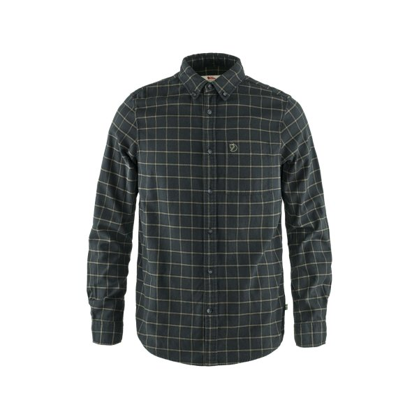 Fjällräven Övik Flannel Shirt 82979 dark grey  Herrenhemd Outdoorhemd Hemd